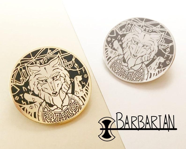 Class pins  Barbarian  Hard enamel pin image 0