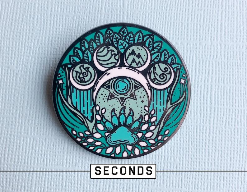 Seconds  Final Run  Small Druid Emblem  Hard enamel pin image 0