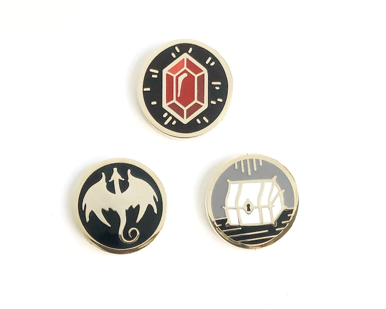 Tiny Monsters and More Set 1  Small hard enamel pins for Bundle