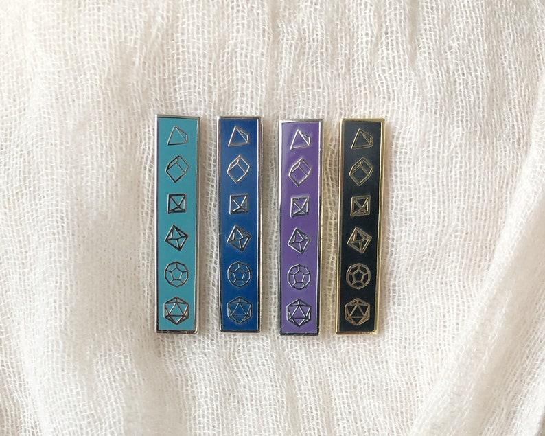 Dice bar enamel pin  Hard enamel pin image 0
