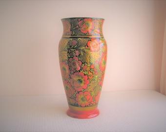 Vintage Signed Poppy Vase By Turov