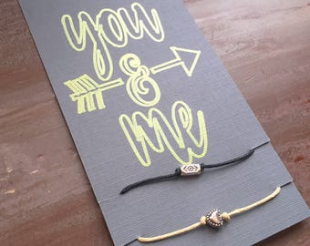 YOU and ME: couples + friendship WISH bracelets