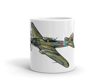 WWII Russian Schturmovik Airplane Coffee Mug