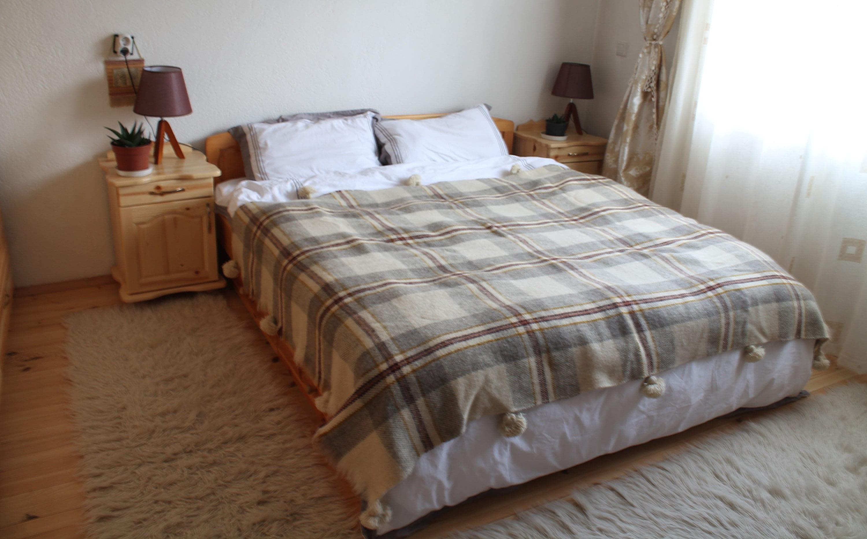 Couverture tissée pom pom couverture laine couverture à la main surgit canapé jeter couverture bio prêt à expédier plaid | Jeter des couvertures | Jeté de lin