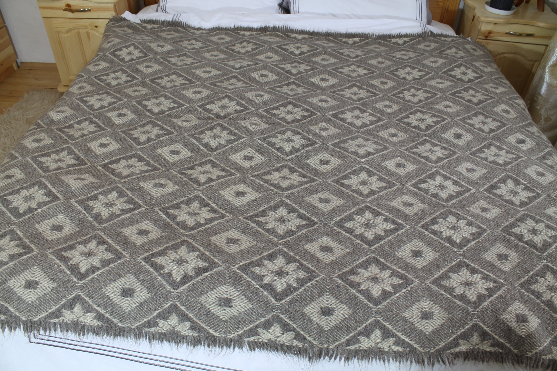 Couverture de jet plaid géométrique gris, double face couverture, couverture de jet de laine, housse de jet de canapé, couverture de laine, jet décoratif tissé à la main