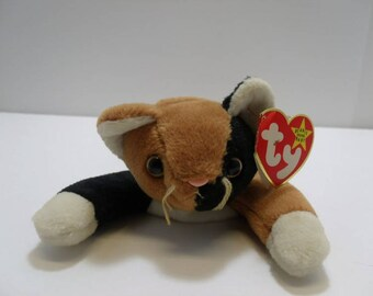 1996 TY Beanie Baby Chips The Calico Cat Style 4121 First Edition With  Errors c99970481d27