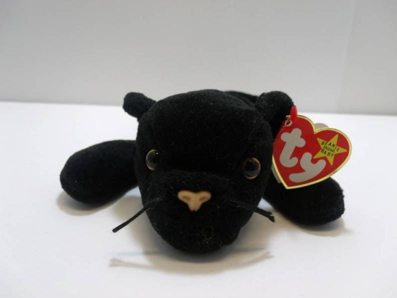 1995 TY Beanie Baby Velvet Black Panther Style 4064 Retired  a049e99516c6