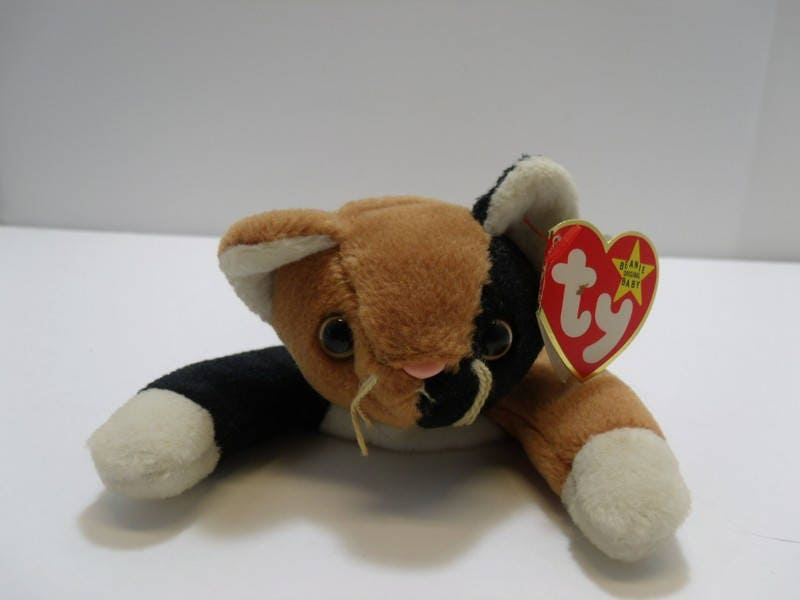 4f17ad6ad31 1996 TY Beanie Baby Chips The Calico Cat Style 4121 First