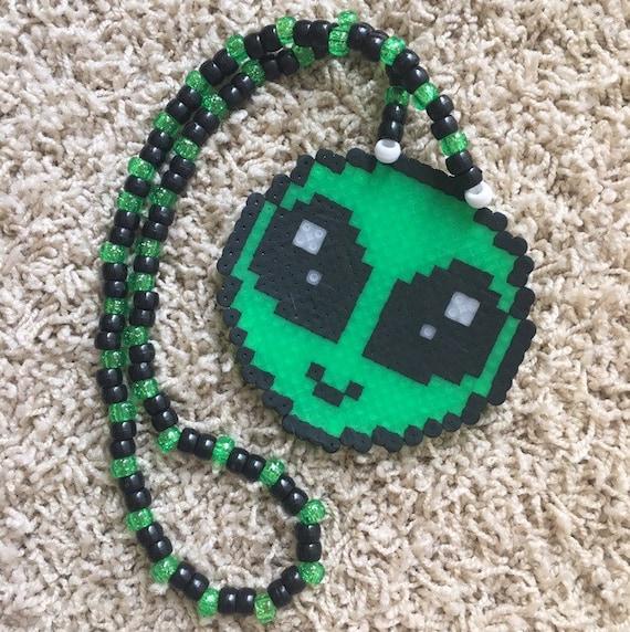 Ailen UFO Perler Necklace