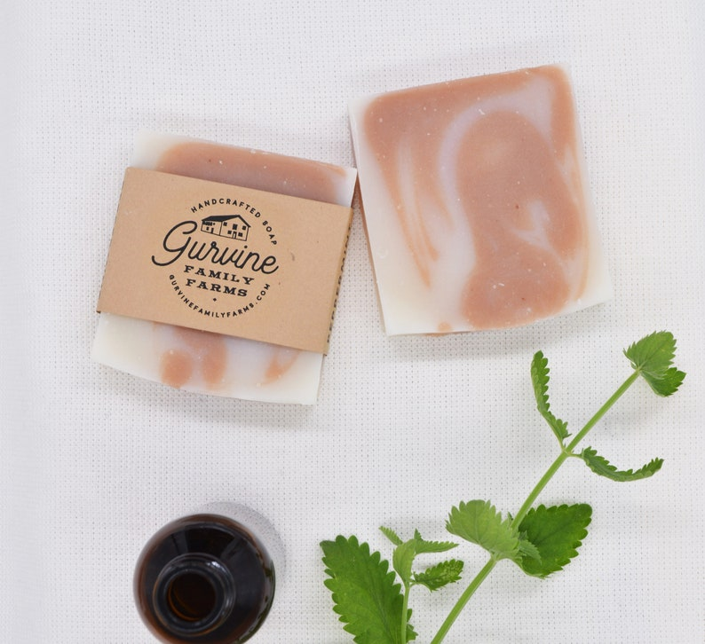 Peppermint Soap  Breathe Easy Soap  Hand crafted image 0