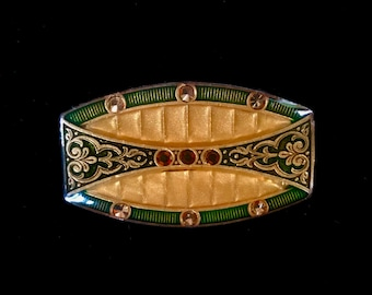 Vintage Oval Catherine Popesco Signed Brooch