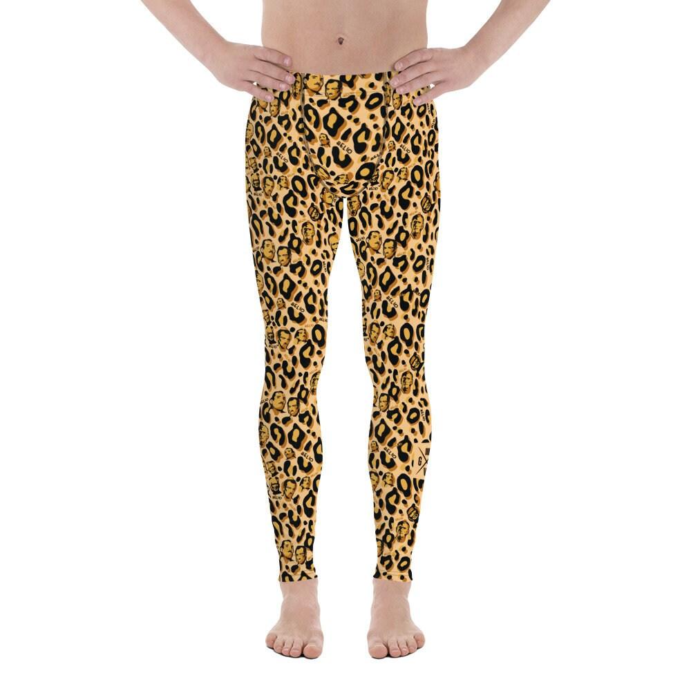 Spats, Gaiters, Puttees – Vintage Shoes Covers Jiu Jitsu Leopard Print Helio Bjj Spats - Mens Nogi Leggings Mma Cheetah Mens Jiujitsu $55.00 AT vintagedancer.com