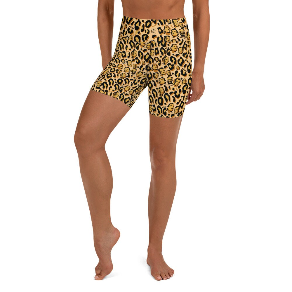 Spats, Gaiters, Puttees – Vintage Shoes Covers Womens Jiu Jitsu Heli-Eoww Leopard Print Helio Shorts - Mma Athletic Bjj Womens Animal Nogi Grappling $40.00 AT vintagedancer.com