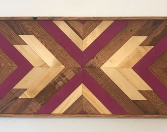 Wood Wall Art - Large Wood Wall Art - Abstract Wood Wall Hanging - Geometric Wood Wall Art - Reclaimed Wood Wall Art