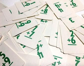 Vintage Math Flashcards - Set of 42