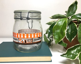 Vintage Carlton Glass Candy Jar with Latch