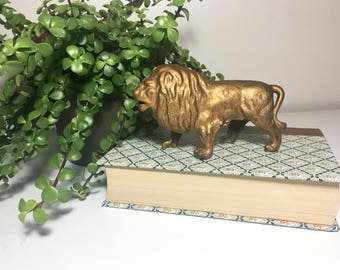 Vintage Castiron Lion Bank
