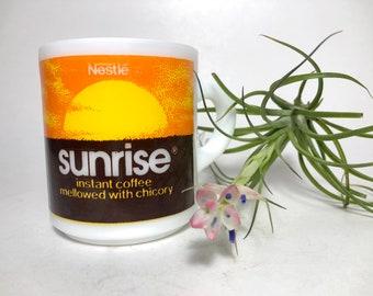 Vintage Nestle Sunrise Milk Glass Mug