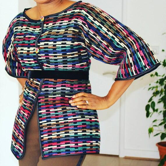 Multicolour Wool Blazer Jacket