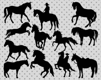 Horse Silhouette Svg Cowboy Cricut