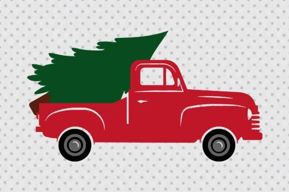 Christmas truck svg Vintage Truck svg Old Pickup Truck svg