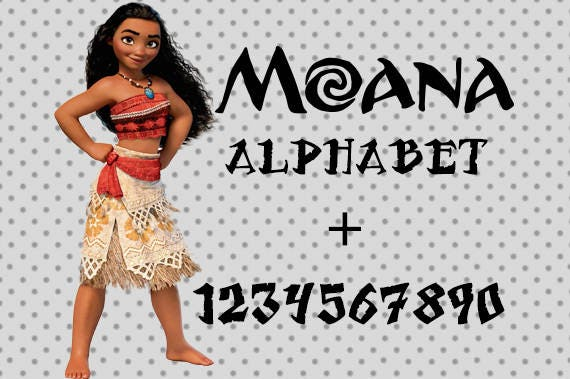 Moana svg fuente alfabeto de Moana Moana SVG alfabeto fuente   Etsy