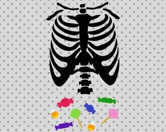 Halloween SVG, Halloween candy svg, Skeleton svg, Halloween Skeleton Svg, Candy cricut and silhouette cameo, Candy tummy Svg