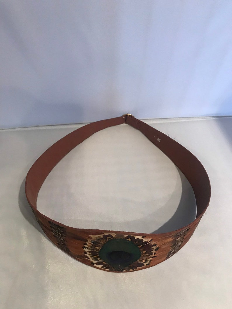 Peacock Feather Belt