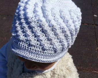 Girl's cap 12-18 rock. Head circumference 44-45 cm. Long to the ear 15cm.