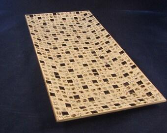 Mid Century Mosaic Ceramic Tile Tray - Large