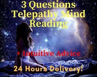 Telepathy Reading Clairvoyant, Intuitive Mind Reader Telepath, Mental Telepathy Love Psychic Reading, Love Reading Telepathic Intuition