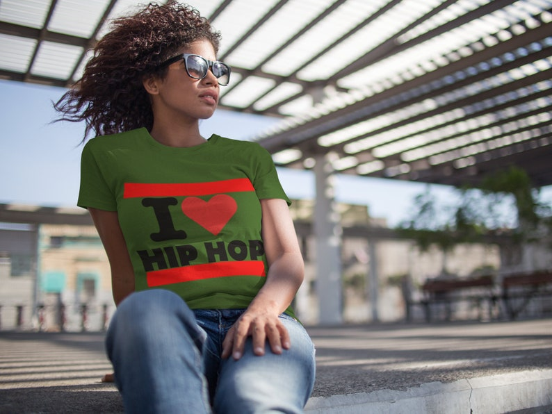 I Love Hip Hop T-Shirt | Hip Hop Shirt | Mens Rap Shirt | I Love Hip Hop  Shirt | Love and Hip Hop Tee | I Love Music Tee | 90s hip hop shirt