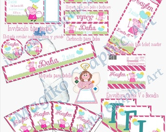 Personalized Printable Kit for Parties. Peppa Pig