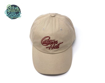 Custom embroidered cotton twill hat