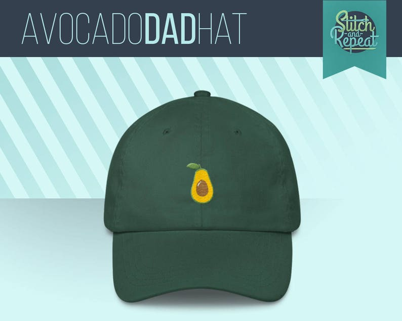 3b8ffbebd6e0d Avocado Dad HatAvocado Crew Guac is Extra Guac Hat