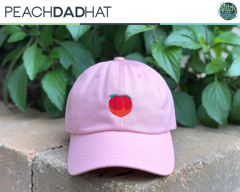 b0c9c87095dce Peach Dad Hat Peach Emoji Peachy Dad Hat Cute Dad Hat
