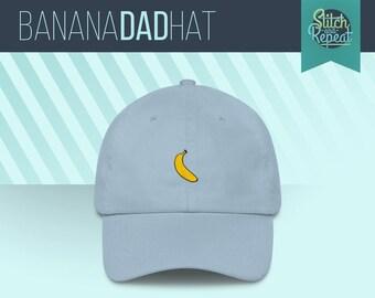 Banaan papa Hat, Fruit papa hoed, ananas, leuke papa hoed, papa van de zomer hoed, geborduurd hoed, aangepaste Embriodery, aangepaste hoeden