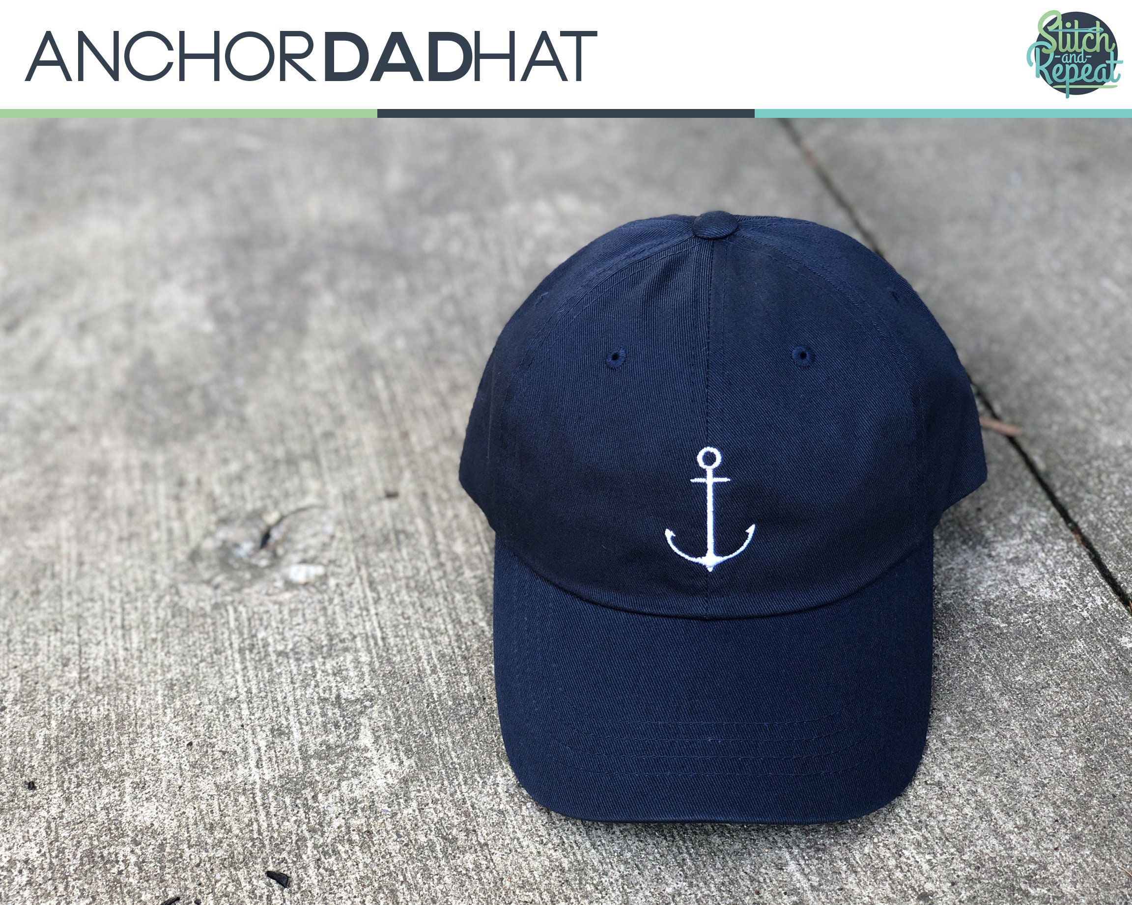 729552604 Anchor Dad Hat, Ship, Ocean, Geek, Dad Hat, Embroidered Hat, Custom  Embroidery, Custom Hats