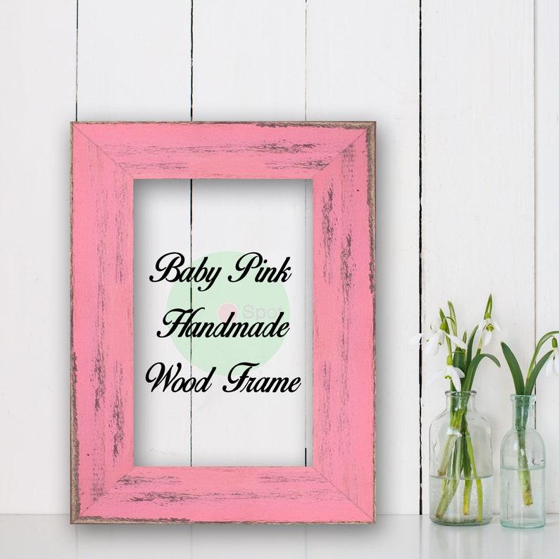 Baby Pink 4 x 6 size Frames Wholesale Bulk Lots Bundle good for Photo Picture prints Poster Canvas Art Barn Wood Decoration