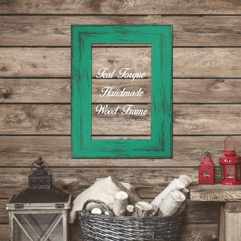 Teal Torque 5 x 5 size Frames Wholesale Bulk Lots Bundle good for Photo Instagram Picture prints Poster Canvas Art Barn Wood Decoration