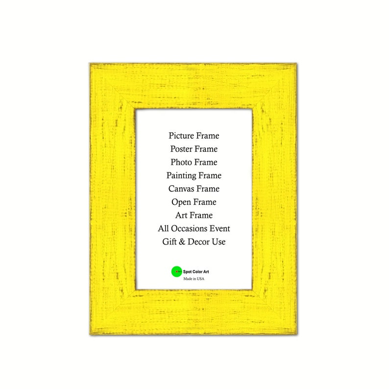 Simple Yellow 5 x 7 size Frames Wholesale Bulk Lots Bundle good for Photo Picture prints Poster Canvas Art Barn Wood Decoration