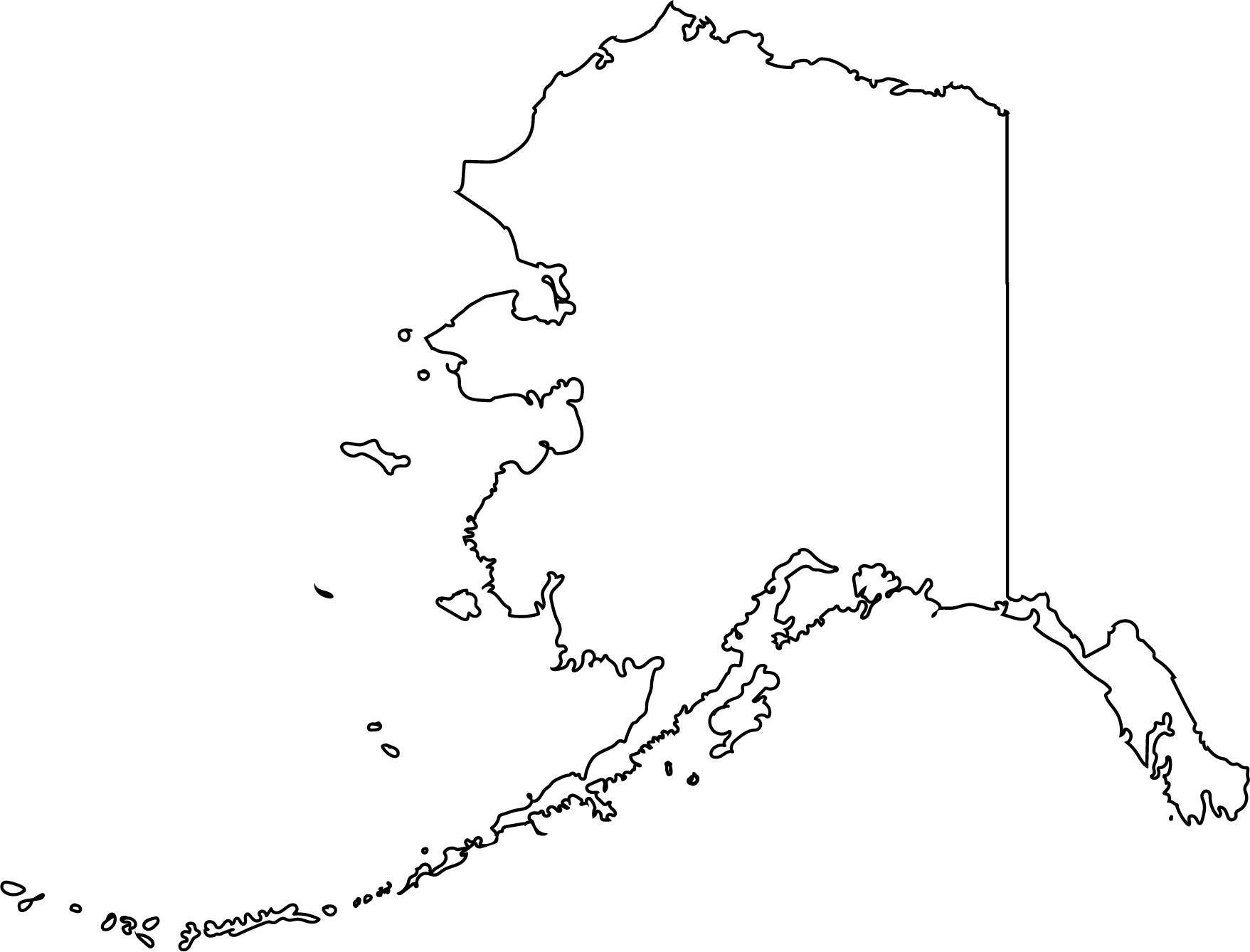 Alaska State Outline Art v2UqK13