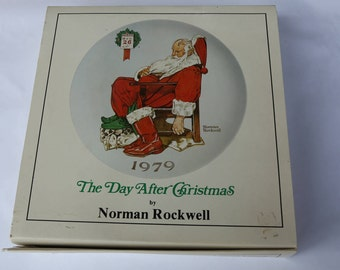 """1979 Norman Rockwell """"The Day After Christmas"""" Collectible Plate"""