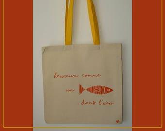 Tote bag sardine - cotton shopping bag - funny tote bag