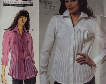 7d5aba113a6 Easy Today s Fit women s blouse pattern Vogue 1165