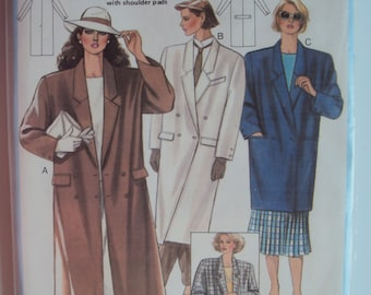 Uncut vintage vogue sewing pattern 2613 Mens Lined Coat Pattern Jacket Overcoat Formal Casual Sewing Pattern Size  38 40 42  FF