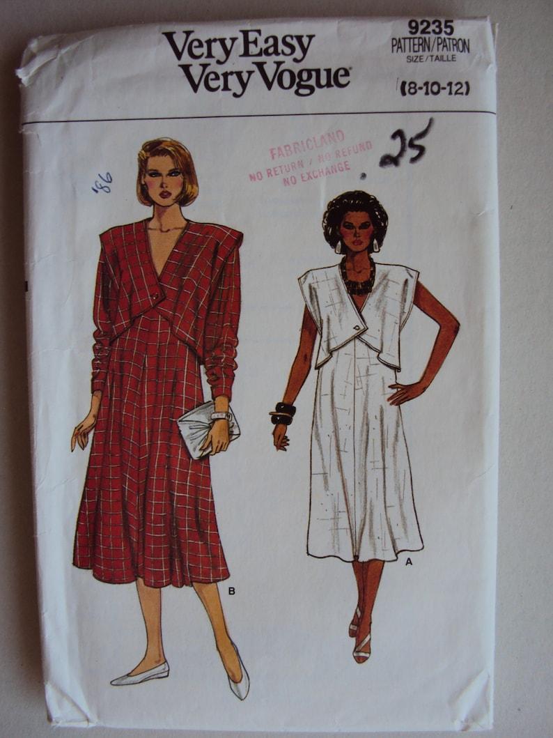 f8f42b8e629 Very Easy Very Vogue 80 s style maternity dress pattern