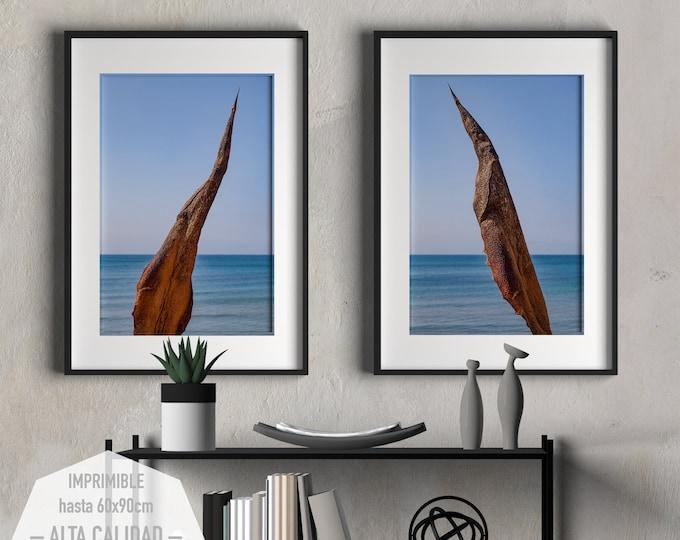 Featured listing image: Arte fotográfico del Mar Mediterráneo para imprimir. 2 fotografías para decorar su hogar u oficina. Interiorismo.