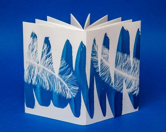Handmade Zig-Zag notepad bound with an exclusive cyanotype.