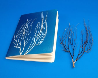 Handmade Gorgonian Notebook 13x20cm, 60 pages.